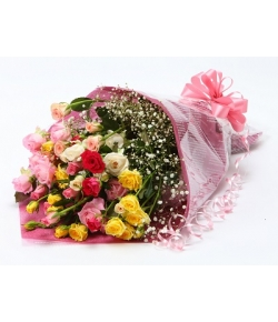 spray rose bouquet to japan
