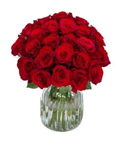 send 24 red roses in vase to japan