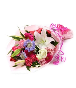 send french pink bouquet to japan