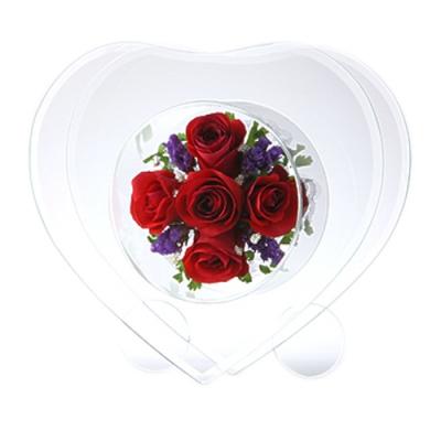 send fairy heart pure flower to japan